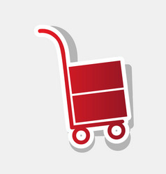 Hand truck sign new year reddish icon vector
