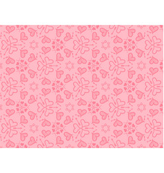 hearts background for love vector image