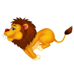 Lion cartoon running vector