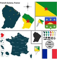 Map of french guiana vector