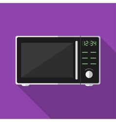Microwave with long shadow icon vector image vector image