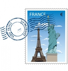 postmark from France vector image
