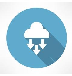 precipitation icon vector image vector image