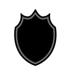 shield shape icon vector image