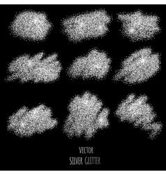 Silver glitter background vector