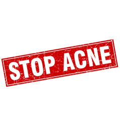 Stop acne square stamp vector