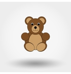 Teddy bear toy vector