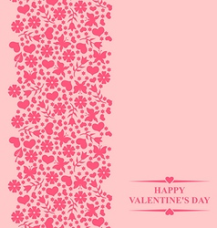 valentine card pink vector image vector image