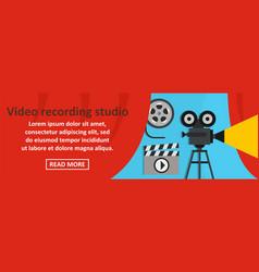 video recording studio banner horizontal concept vector image