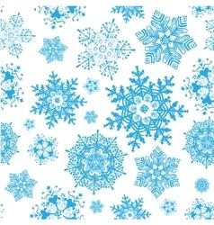 winter snowflakes blue christmas seamless vector image