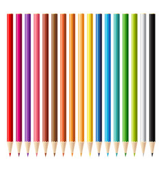 wooden sharp pencils set background vector image vector image
