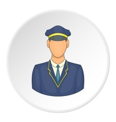 Train driver icon cartoon style vector
