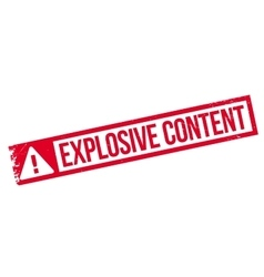 Explosive content rubber stamp vector