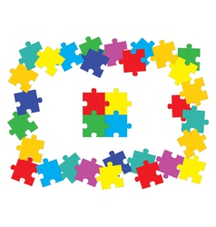 jigsaw puzzle parts vector image
