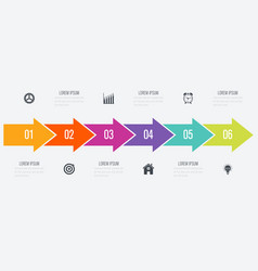 Arrows infographic with 5 options vector