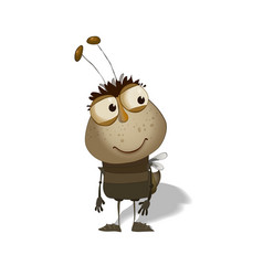 Funny bug cartoon vector