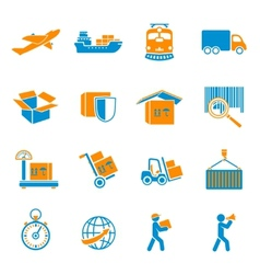 Shipping delivery icons set vector