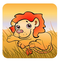 Friendly lion vector