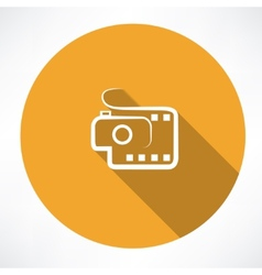 Camera and film icon vector