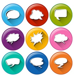 Buttons with empty callout templates vector image
