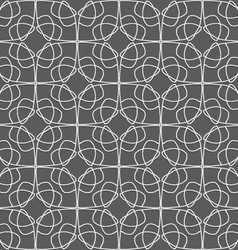 Geometrical ornament with slim wire on gray vector