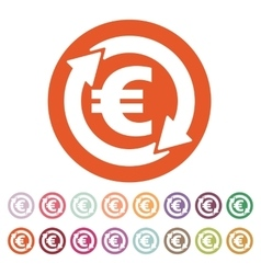 The currency exchange euro icon cash and money vector