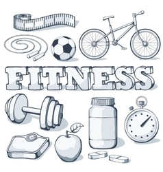 Fitness concept vector