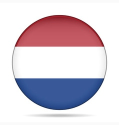 Button with flag of netherlands vector