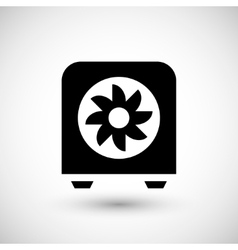 Electric heater icon vector
