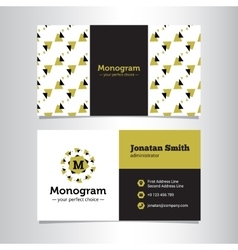 Business card template with minimalisitc vector