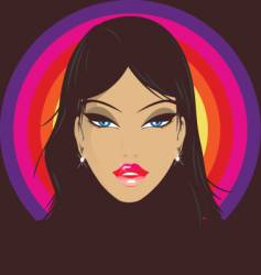 disco babe vector image