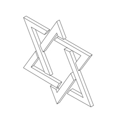 Star of david icon isometric 3d vector