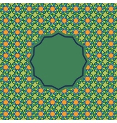 Abstract pattern in arabian style vector