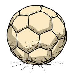 cartoon image of soccer ball icon football symbol vector image vector image