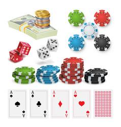 casino design elements poker chips vector image