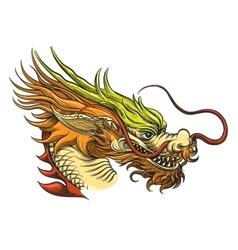 Chinese dragon head vector