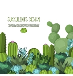 Cute succulent vector