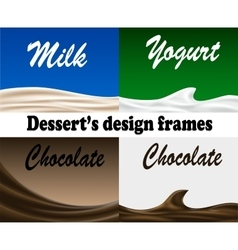 Dessert design frames vector image vector image
