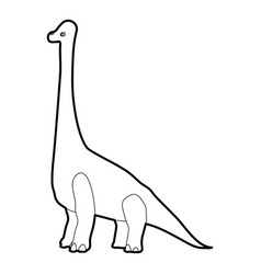 Diplodocus icon outline vector