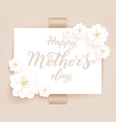 Elegant happy mothers day card vector