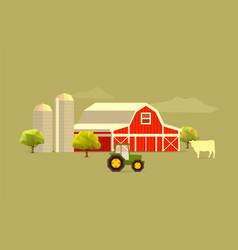 farm simple vector image