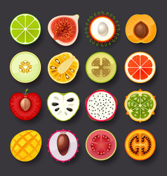 Fruit icon set-2 vector