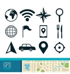 Gps navigation technology vector