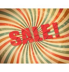grunge retro sale background vector image vector image