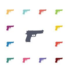 gun flat icons set vector image vector image