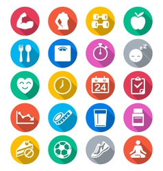 Healthcare flat color icons vector