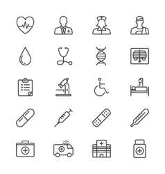 Healthcare thin icons vector image vector image