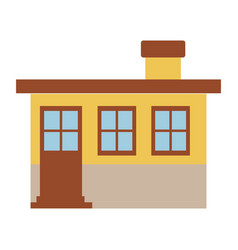 Light color silhouette of small house facade with vector