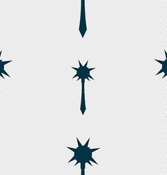 Mace icon sign seamless pattern with geometric vector
