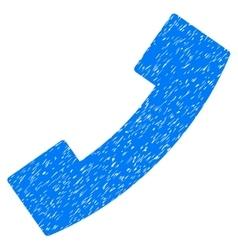 Phone receiver grainy texture icon vector